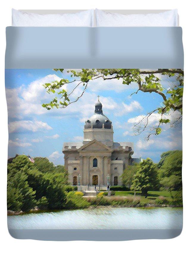 Landscape Duvet Cover featuring the digital art Saint Catharines by Steve Karol