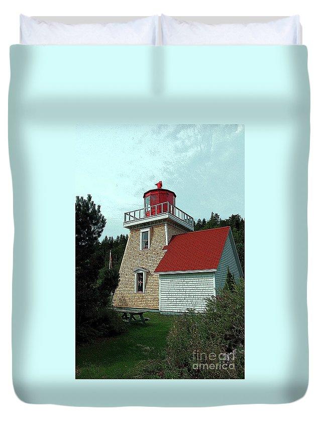 Saint Martin's Duvet Cover featuring the photograph Saint Martin's Lighthouse 2 by Kathleen Struckle