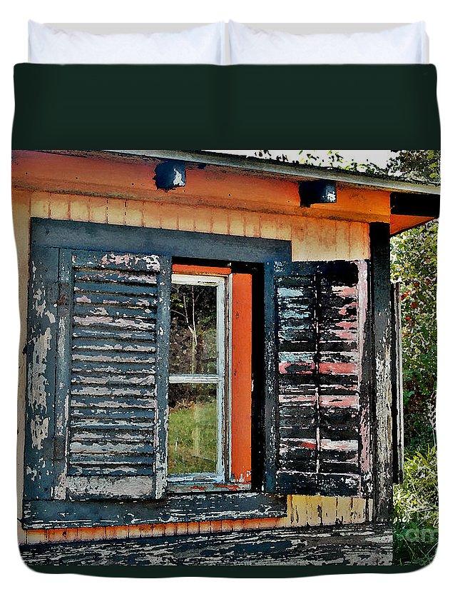 Pisgah National Forest Duvet Cover featuring the digital art Saluda Cross Roads II by Jeff McJunkin