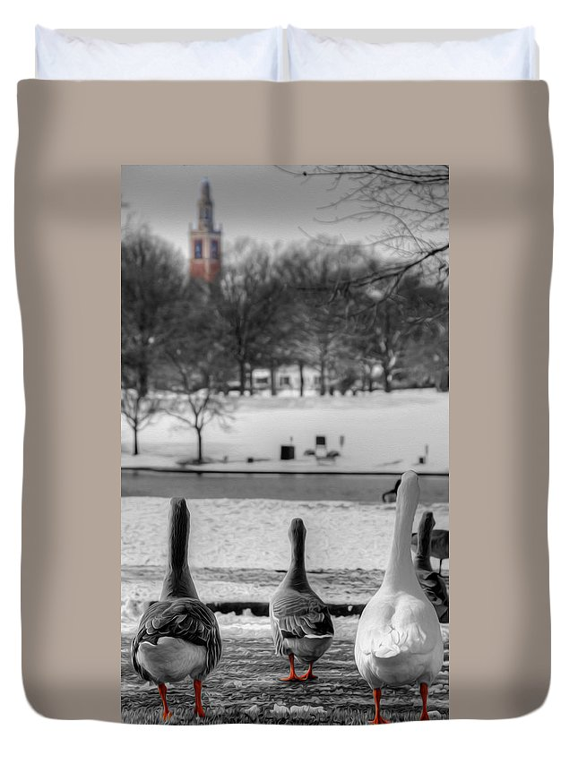 Ducks Duvet Cover featuring the photograph Salute by Kelvin Booker