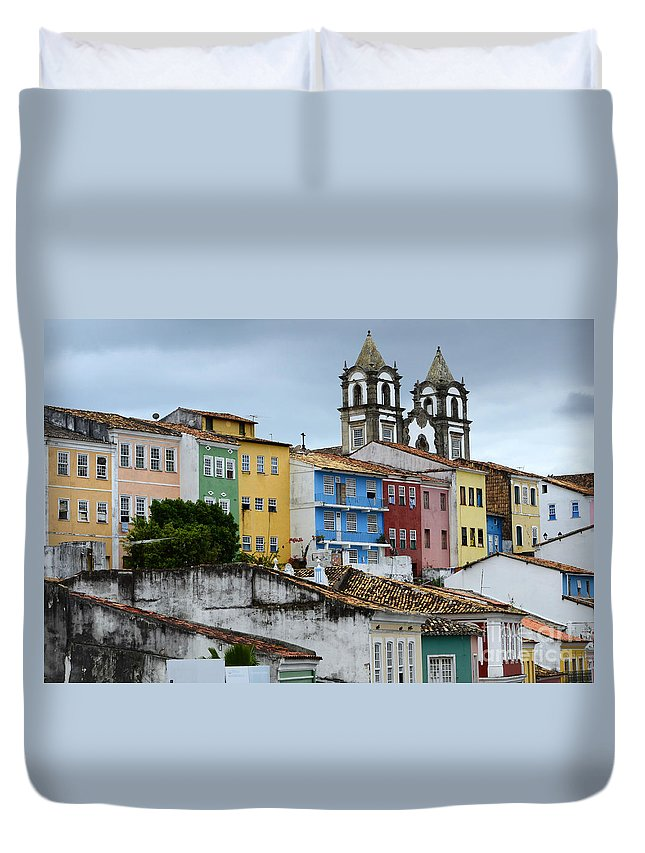 Color Duvet Cover featuring the photograph Salvador Brazil The Magic Of Color by Bob Christopher