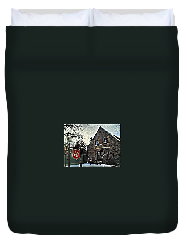 Ny Duvet Cover featuring the photograph Salvation For The Masses by Paulo Guimaraes