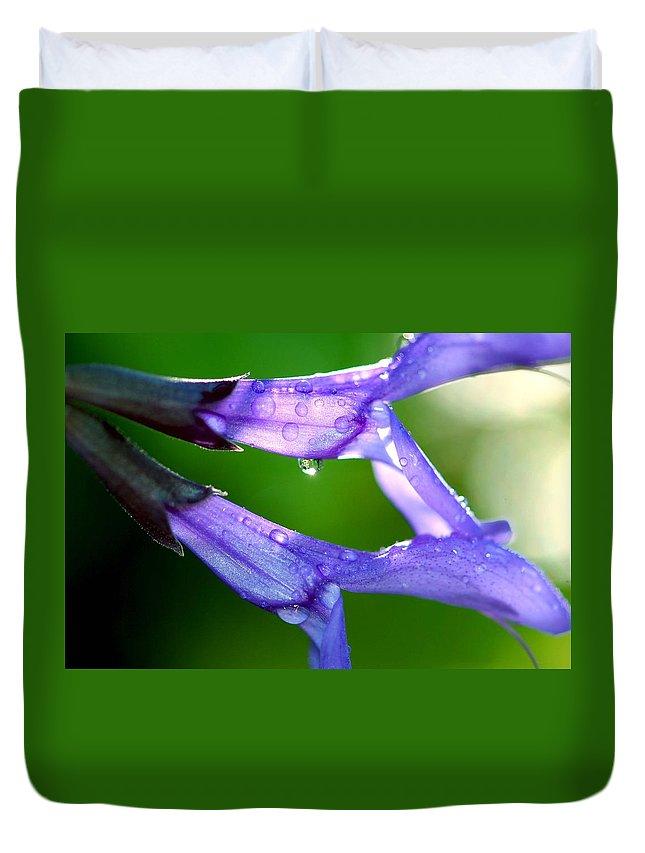 Salvia Duvet Cover featuring the photograph Salvia's Tears by TNZKA Photography