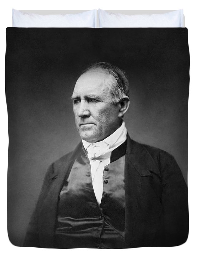 1 Person Duvet Cover featuring the photograph Sam Houston by Matthew Brady