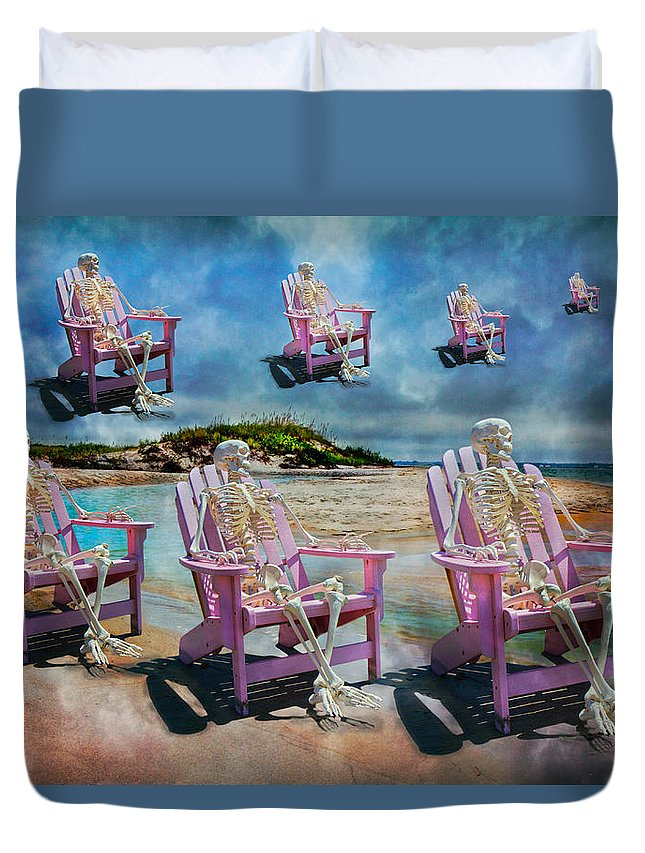 Skeleton Duvet Cover featuring the photograph Sam's Imagination by Betsy Knapp