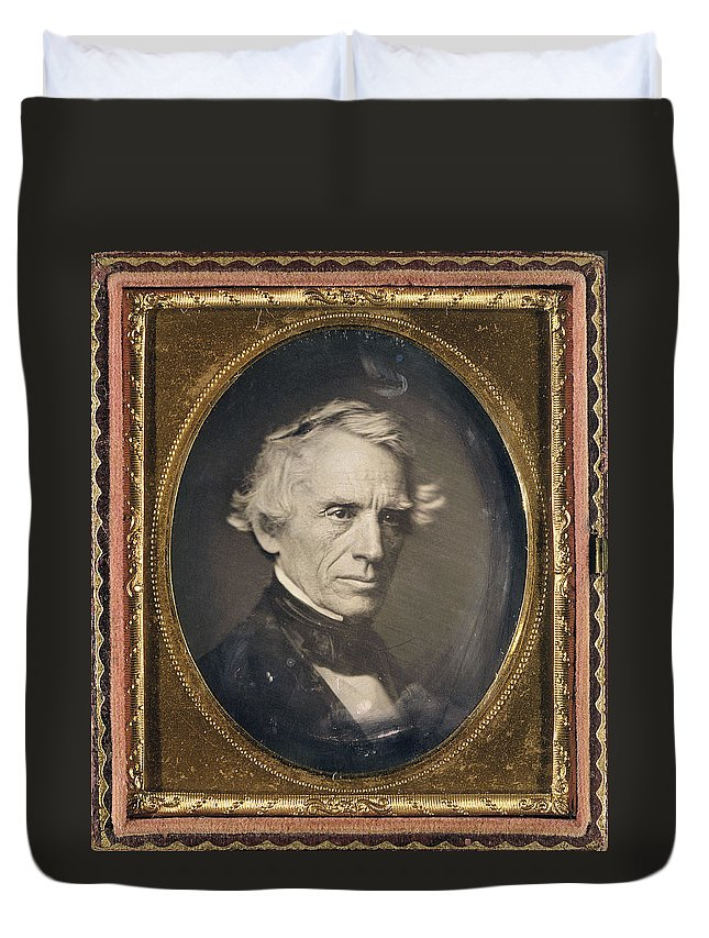 1845 Duvet Cover featuring the photograph Samuel Finley Breese Morse by Granger