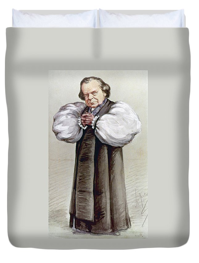 1869 Duvet Cover featuring the painting Samuel Wilberforce (1805-1873) by Granger