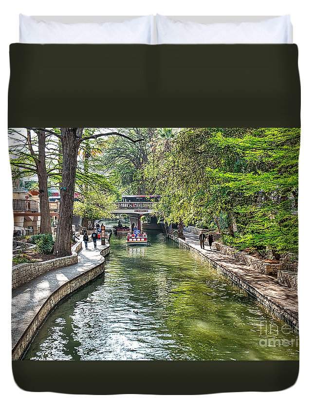 San Antonio Duvet Cover featuring the photograph San Antonio River Walk In Spring by Tod and Cynthia Grubbs