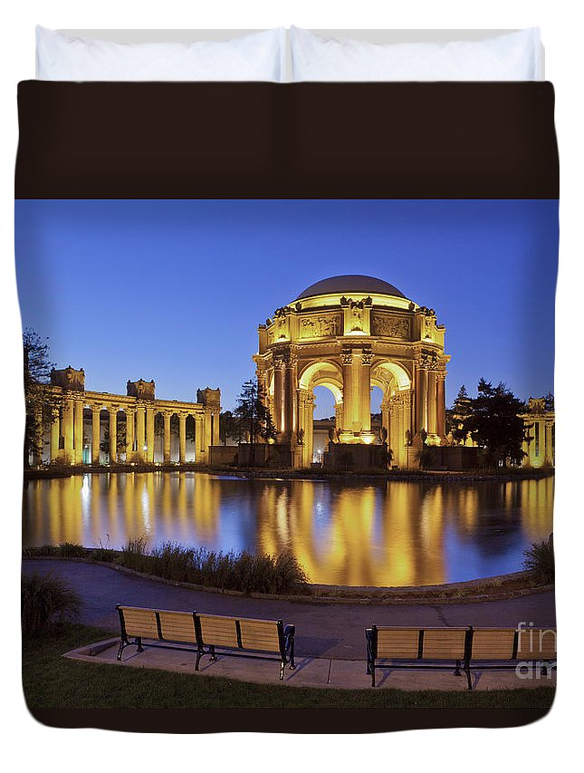 San Francisco Duvet Cover featuring the photograph San Francisco Palace Of Fine Arts Theatre by B Christopher