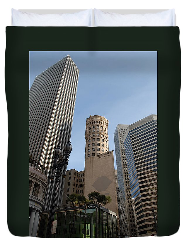 San Francisco Duvet Cover featuring the photograph San Francisco Skysrappers by Debra Wales