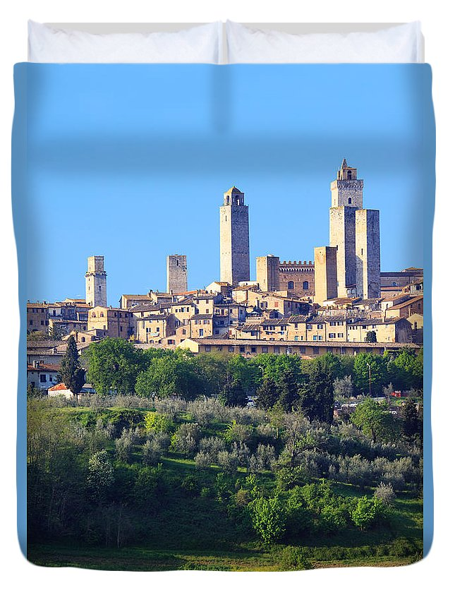 2010 Duvet Cover featuring the photograph San Gimignano Tuscany Italy by Matteo Colombo