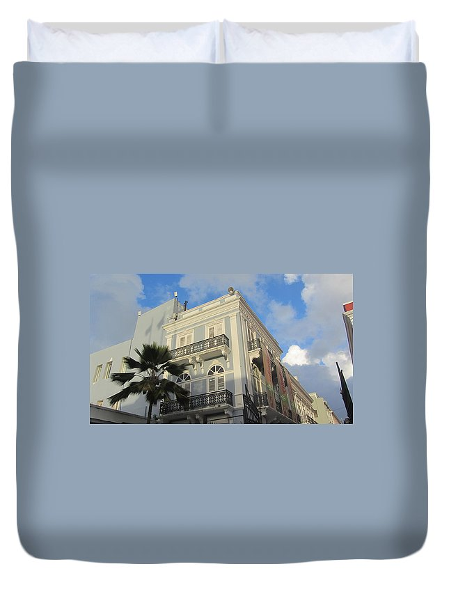 Architecture Duvet Cover featuring the photograph San Juan Architecture 1 by Anita Burgermeister