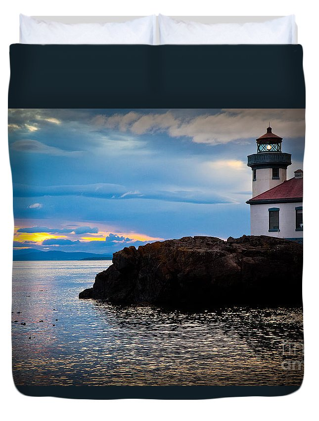 America Duvet Cover featuring the photograph San Juan Dreaming by Inge Johnsson