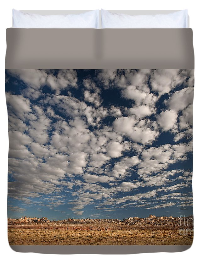 North America Duvet Cover featuring the photograph San Rafael Swell Near Goblin Valley Utah by Dave Welling