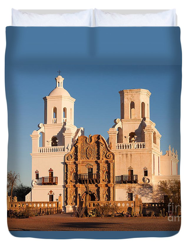 Clarence Holmes Duvet Cover featuring the photograph San Xavier Del Bac Mission IIi by Clarence Holmes