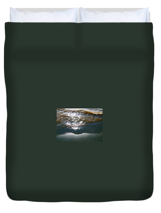 Abstract Duvet Cover featuring the photograph Sand And Water by Lenore Senior