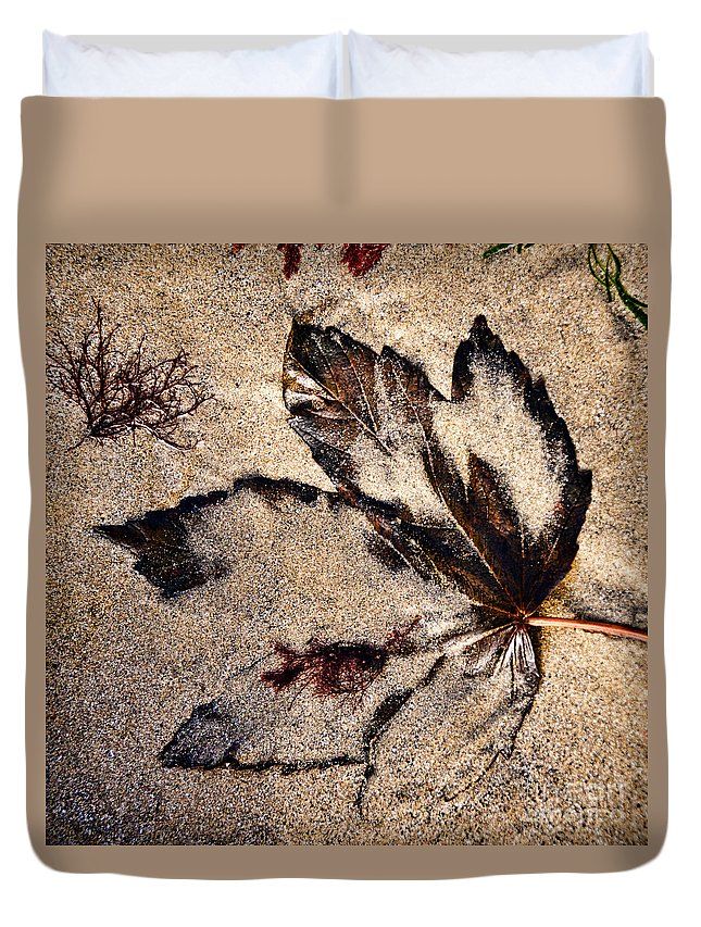 Lyme Regis Duvet Cover featuring the photograph Sand Art by Susie Peek