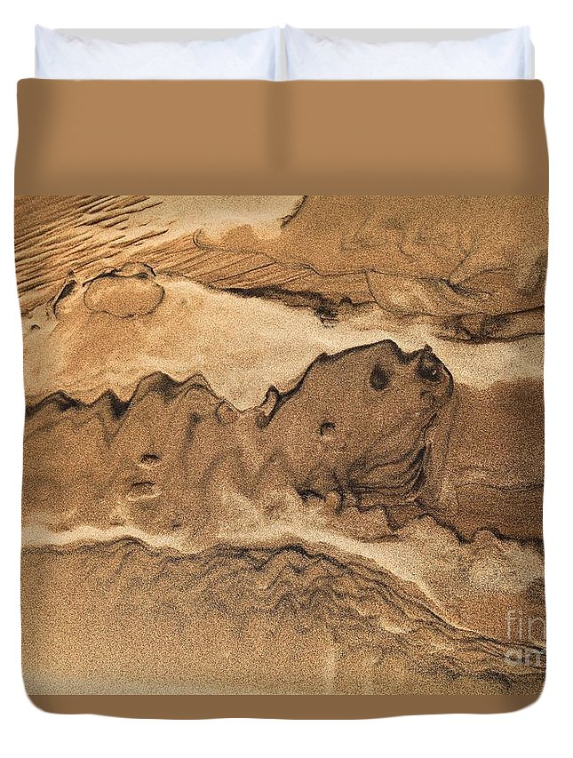 Great Sand Dunes National Parks Duvet Cover featuring the photograph Sand Dog by Adam Jewell