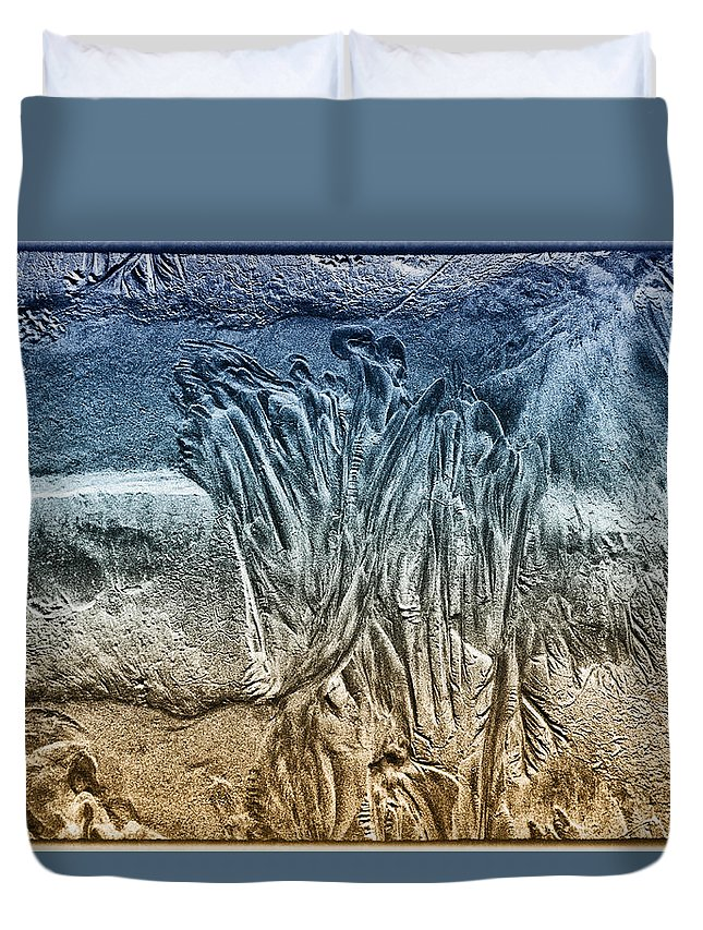 Abstract Duvet Cover featuring the photograph Sand Patterns by Geraldine Alexander