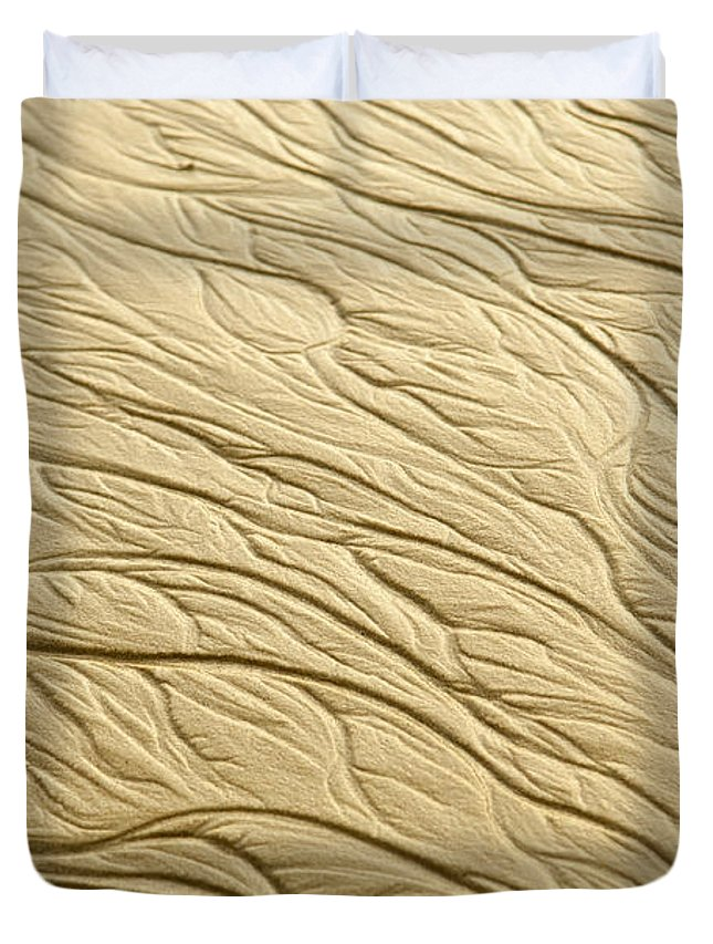 Malaysia Duvet Cover featuring the photograph Sand Patterns by Tim Hester