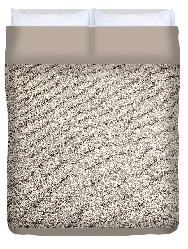 Sand Duvet Cover featuring the photograph Sand Ripples Natural Abstract by Elena Elisseeva