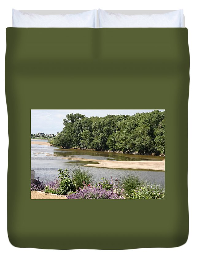 River Duvet Cover featuring the photograph Sandbanks In The River by Christiane Schulze Art And Photography