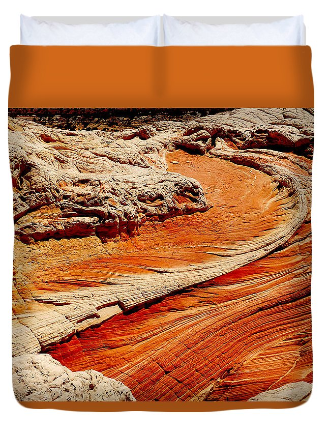 Sandstone Duvet Cover featuring the photograph Sandstone Highway by Alan Socolik