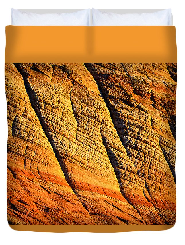 Sandstone Duvet Cover featuring the photograph Sandstone Of Time by David Lee Thompson