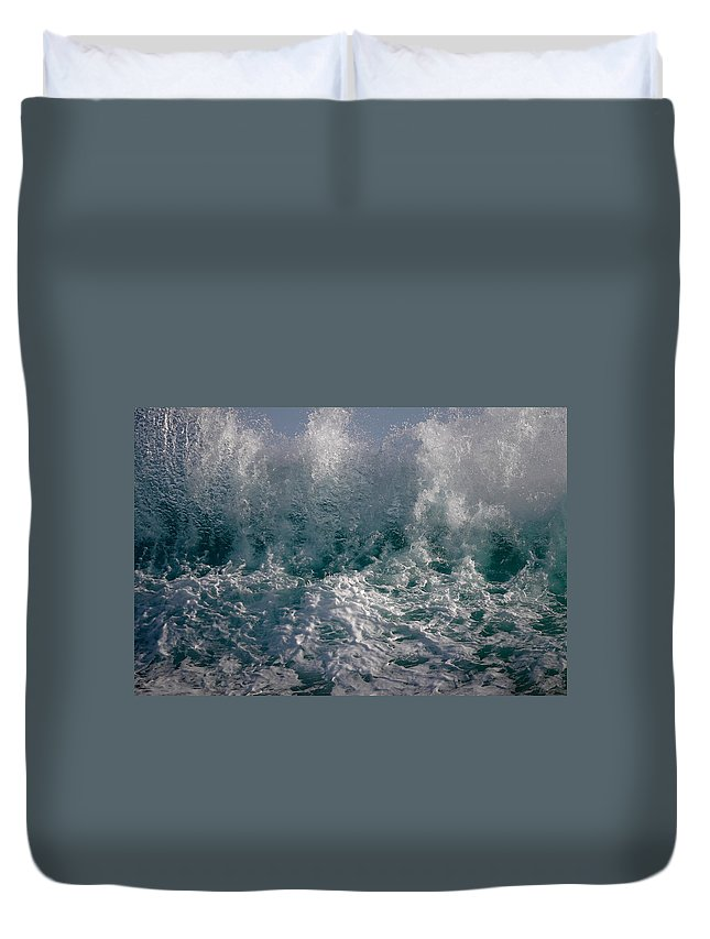 Sandy Beach Hawaii Duvet Cover featuring the photograph Sandy Beach Backwash by Richard Cheski