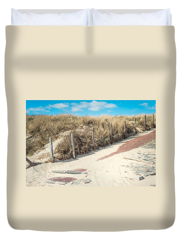 Nature Duvet Cover featuring the photograph Sandy Dunes In Holland by Jenny Rainbow