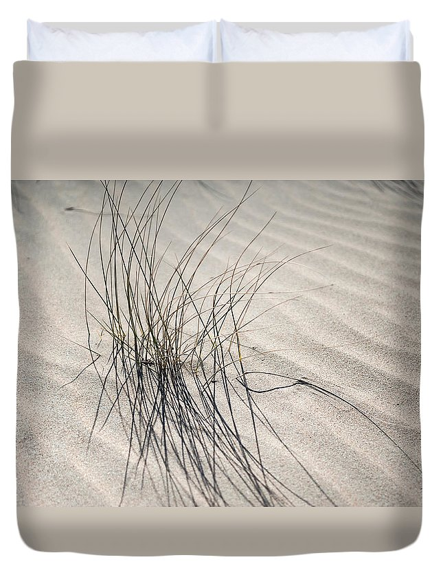 Nature Duvet Cover featuring the photograph Sandy Grass. Coastal Dunes In Holland by Jenny Rainbow