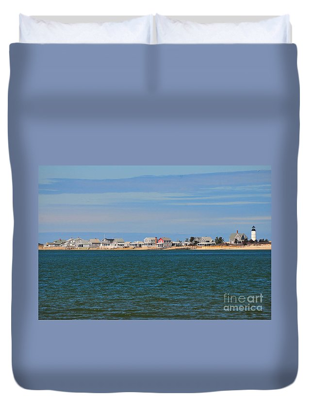 Sandy Neck Colony Duvet Cover featuring the photograph Sandy Neck Colony by Catherine Reusch Daley