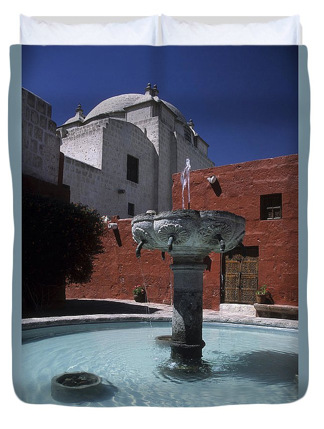 Peru Duvet Cover featuring the photograph Santa Catalina Convent by James Brunker