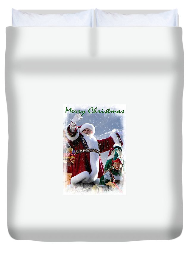 Christmas Duvet Cover featuring the photograph Santa Claus by Lilliana Mendez