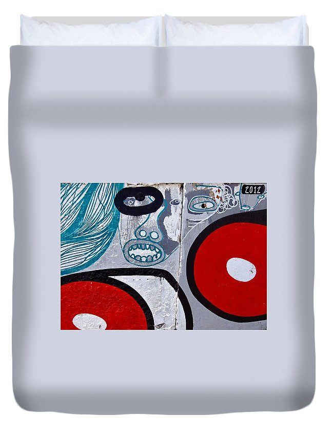 Graffiti Duvet Cover featuring the photograph Sao Paulo Graffiti I by Julie Niemela