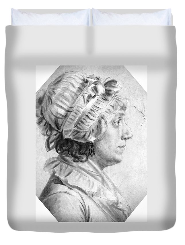1804 Duvet Cover featuring the drawing Sarah Tayloe Washington (1765-1835) by Granger