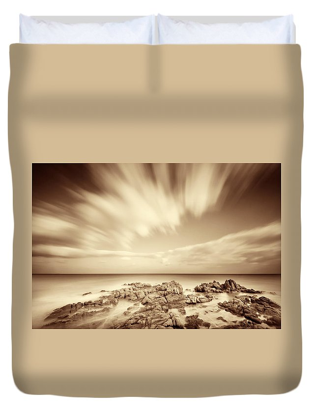 Sardinia Duvet Cover featuring the photograph Sardinia - Costa Del Sud by Alexander Voss