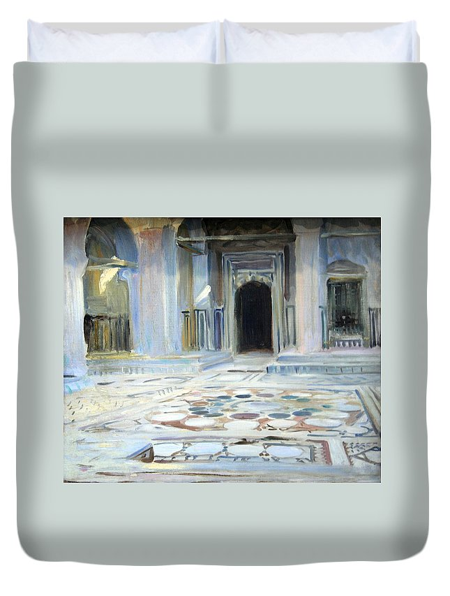 Pavement Duvet Cover featuring the photograph Sargent's Pavement In Cairo by Cora Wandel