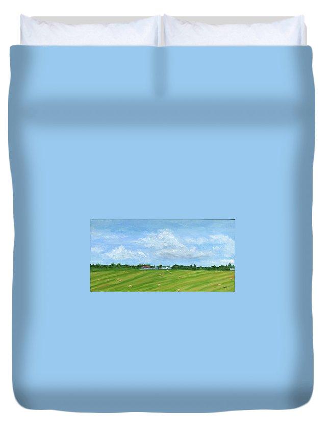 Canada Duvet Cover featuring the painting Saskatchewan Summer by Deborah Butts