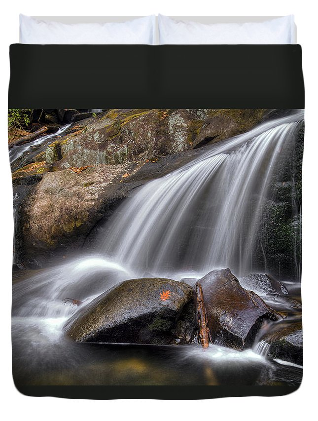 Appalachia Duvet Cover featuring the photograph Sassy Waters by Debra and Dave Vanderlaan