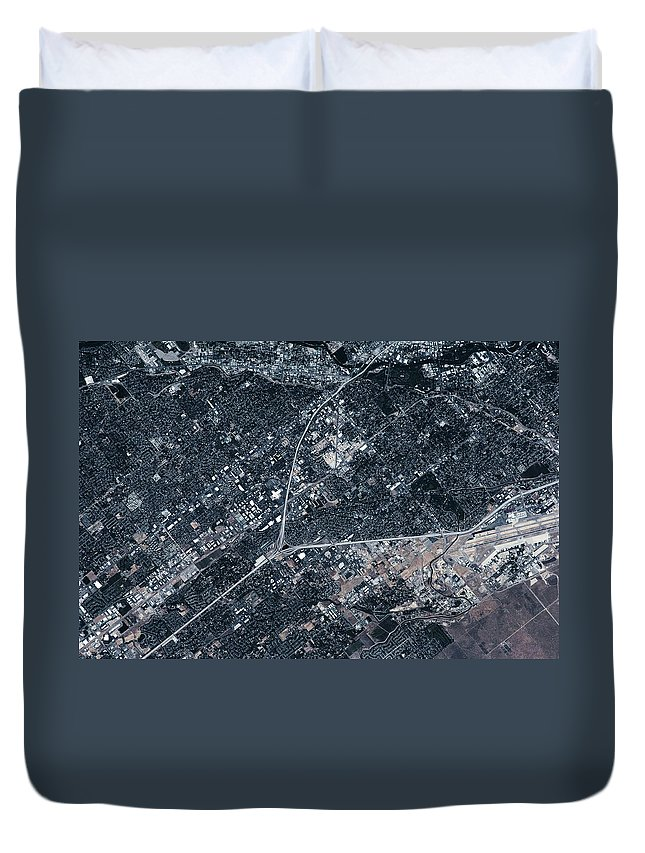 Photography Duvet Cover featuring the photograph Satellite View Of Boise, Idaho, Usa by Panoramic Images