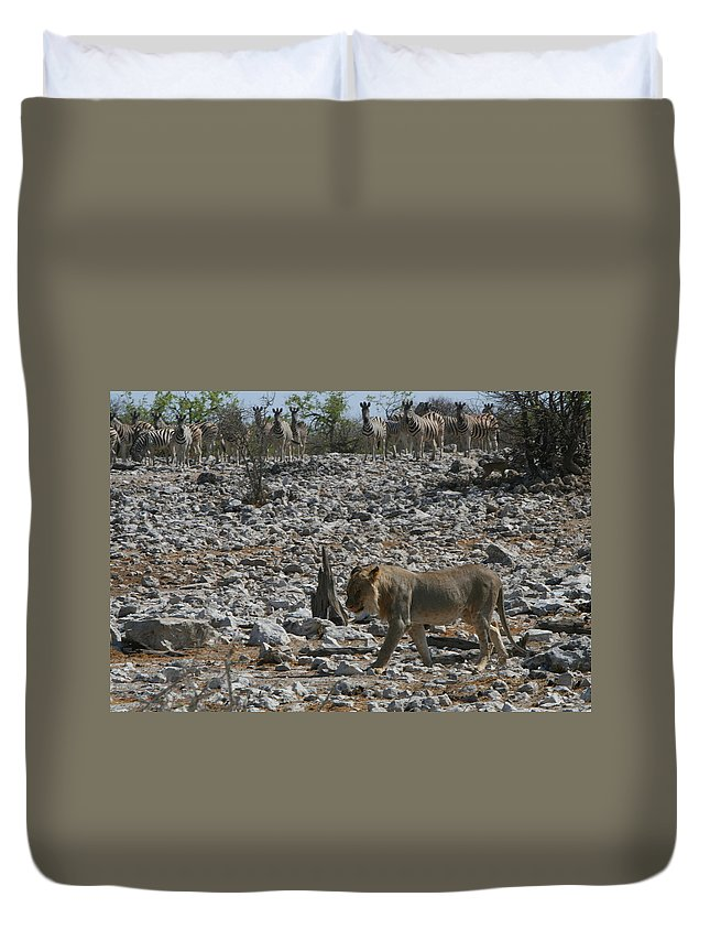Africa Duvet Cover featuring the photograph Satisfied by Bruce J Robinson
