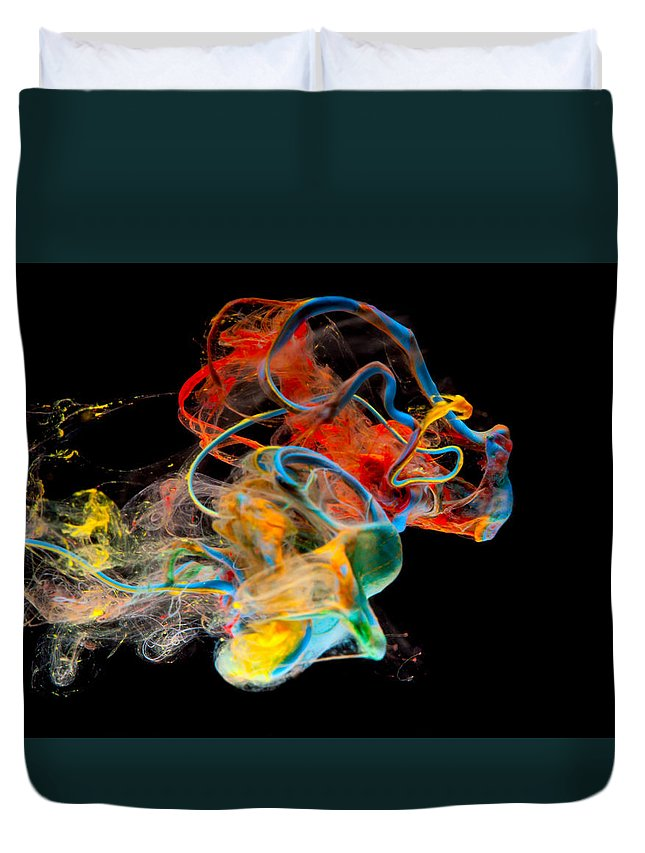 Abstract Duvet Cover featuring the photograph Saturday by Modern Art Prints