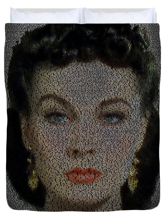 Scarlett Ohara Quotes Mosaic Duvet Cover For Sale By Paul Van Scott