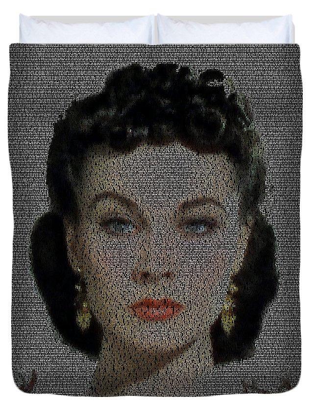 Scarlett Ohara Quotes Mosaic Duvet Cover For Sale By Paul Van Scott