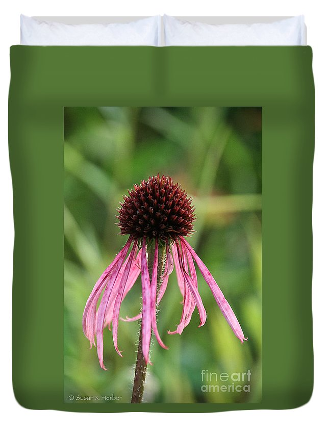 Flower Duvet Cover featuring the photograph Scraggly by Susan Herber