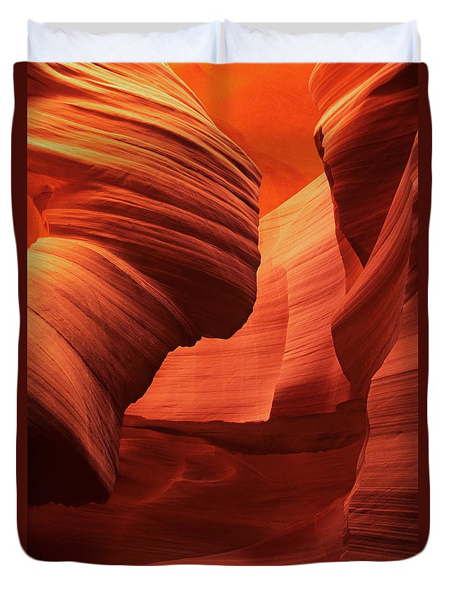 North America Duvet Cover featuring the photograph Sculpted Sandstone Upper Antelope Slot Canyon Arizona by Dave Welling