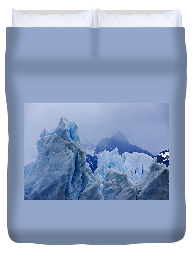 Argentina Duvet Cover featuring the photograph Sculpture in Blue by Michele Burgess