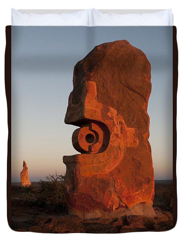 Australia Duvet Cover featuring the photograph Sculpture Symposium by Lana Enderle