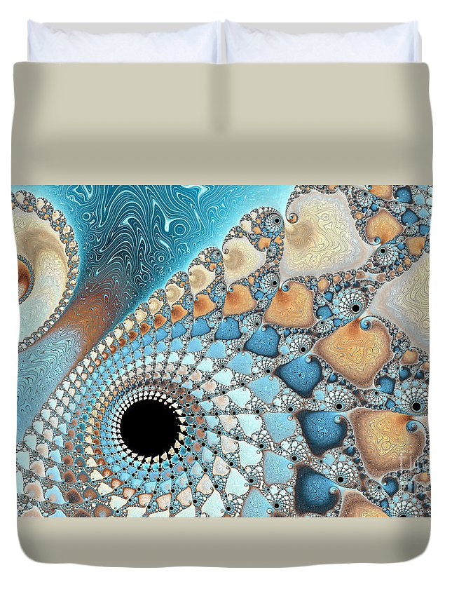 Background Duvet Cover featuring the photograph Sea And Sand by Heidi Smith